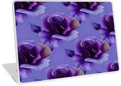 Purple Rose Floral Pattern | Design available for PC Laptop, MacBook Air, MacBook Pro, & MacBook Retina.