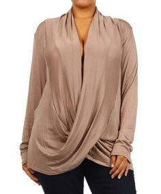 Look at this #zulilyfind! Tan Drape Top - Plus by J-MODE #zulilyfinds