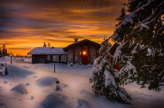 Sunset in the Cabin by Jørn Allan Pedersen on 500px