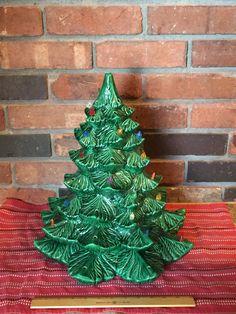 Large Ceramic Christmas Tree 16 Vintage by SylviasVintageKitsch