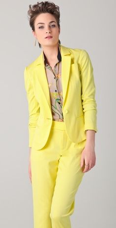 Sunny yellow suiting