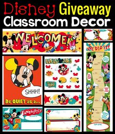 Disney Classroom Makeover with Simply Kinder. Check out how we transformed a class with bulletin boards, desk plates, and classroom decor with Mickey Mouse decor from Eureka Schools. Mickey Mouse Classroom, Disney Classroom, First Grade Classroom, Music Classroom, Kindergarten Classroom, Future Classroom, Classroom Themes, Classroom Organization, Classroom Management