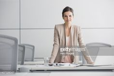 Stock-Foto : Portrait of confident businesswoman in conference room