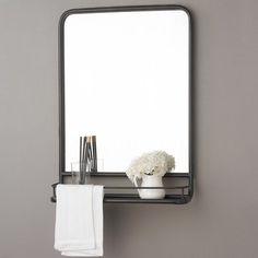 Metal Mirror With Shelf Small
