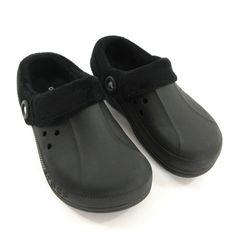 61e461f8b31d Crocs Clogs Unisex Mens 7 Womens 9 Black Blitzen Polar Lined Fleece Winter  Shoes