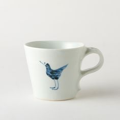 艸茅窯鳥文コーヒーカップ