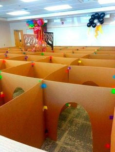 Super carnival games for kids party diy cardboard boxes Ideas