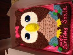 owl cake @rhonda luckett