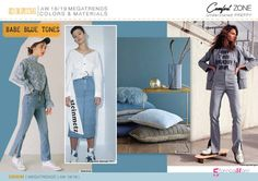 Fall Winter 2018-19 DENIM Mega Trend Directions by 5forecaStore Fashion Trends forecasting: BABE BLU TONES.