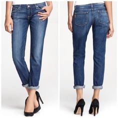 """Paige Jimmy Jimmy Skinny Jeans Greta wash color.  Size 26.  Approximate measurements are 16"""" across the waist, inseam 31""""', front rise 8"""".  65% Cotton 18% Lyocell, 16% Polyester, 1% Elastane.  Light manufacturer distressing.  No trades/No PayPal. Paige Jeans Jeans Skinny"""