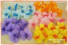 DIY déco d'anniversaire : faire des feuilles et des fleurs hawaïennes