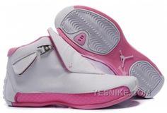http://www.yesnike.com/big-discount-66-off-air-jordan-women-18-retro-pink-white-ma4t5.html BIG DISCOUNT! 66% OFF! AIR JORDAN WOMEN 18 RETRO PINK WHITE MA4T5 Only $78.00 , Free Shipping!