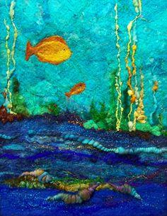 #665 Ocean Blue Two by Deebs Fiber Arts, via Flickr