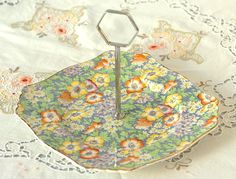 Royal Winton chintz cake plate