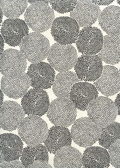 Black and white flower pattern | Emily Tobias, November 2010