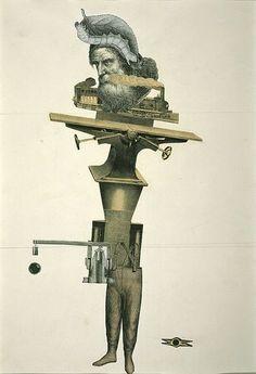 Cadáver exquisito, técnica surrealista que comparte o diluye la autoría. (Breton, Lamba, Tanguy)