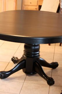 Painted Black Kitchen kitchen table makeover. for our new used oak table. i'll paint the