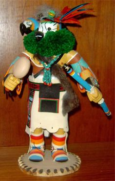 Hopi Kachinas are both symbols of supernatural beings and the male ceremonial dancers who represent them. While the deities and the dancers go back hundreds of years, Kachina dolls have been used in the religious training of children for just over one hundred years. The dolls are given to the children by the dancers that they represent. Each Hopi kachina represents one of over 200 deities, most of which represent their strong bond with nature.