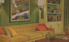 vintage home decor, 1970s shelves