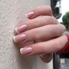 French Manicure Acrylic Nails, Square Acrylic Nails, Oval Nails, French Tip Nails, Best Acrylic Nails, Square Nails, Nail Manicure, Gel Nail, Gelish Nails