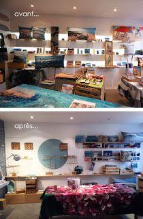 Nappe Végétale: Histoire d'un petit relookage de boutique !!