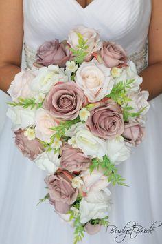 Gold Bouquet, Silk Flower Bouquets, Silk Flower Arrangements, Bride Bouquets, Flower Bouquet Wedding, Ivory Wedding Bouquets, Silk Bridal Bouquet, Blush Flowers, Bridal Flowers