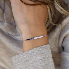 Bracelet letter initial clover silver ribbon filigree macramee lucky charm
