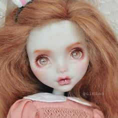 "204 Likes, 2 Comments - 癸喵 (@neko.gui) on Instagram: ""#monsterhigh #doll #ooak #handpainted #handmade #faceup #bjd #repaint #dollrepaint #dollart…"""