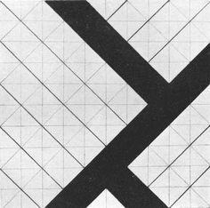 Overal compositie- Alle delen zijn gelijkmatig over het beeldvlak verspreid. Het is een overzichtelijke manier van groeperen die vooral in kindertekeningen en primivitive kunst zichtbaar is. Theo Van Doesburg, Geometry Pattern, Dutch Artists, State Art, Bauhaus, Textures Patterns, Art History, Contemporary Art, Abstract Art