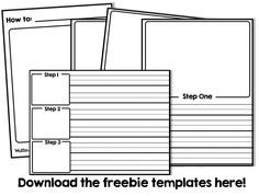 "FREEBIE procedural ""how to"" writing organizer and story booklets"