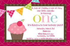 Cupcake 1st birthday party invitations cupcake invitations and cupcake first birthday invitation on etsy laura haines she says if you want filmwisefo