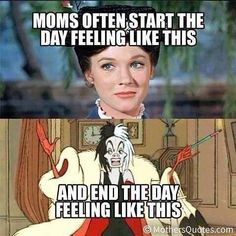 From Mary Poppins to Cruella- all in a day! Lol!