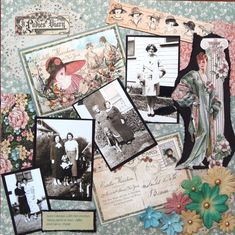 A Ladies Diary - Scrapbook.com  ( created by SedonaScrapper) Wendy Schultz onto Graphic 45 Cards  Layouts.
