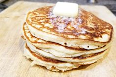 Best ever homemade pancakes recipe! Make these amazing from-scratch pancakes fo. - Best ever homemade pancakes recipe! Make these amazing from-scratch pancakes for your family! Best Homemade Pancakes, Best Pancake Recipe, Pancake Recipes, Homemade Food, Breakfast Dishes, Breakfast Recipes, Breakfast Muffins, Breakfast Ideas, Pancake Healthy
