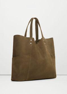 Bolso shopper piel REF. 73003589 - MAIDER7 color khaki | H&M 35,99€