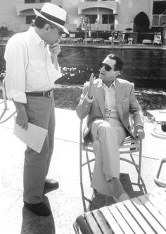 Director Martin Scorsese and Robert De Niro on the set of Casino, 1995 Martin Scorsese, Al Pacino, Movie Stars, Movie Tv, Movie Scene, Casino Movie, Casino Party, Casino Outfit, Girl Dancing