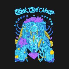 Shop Neon Blue - Goddess of Dreams Black Girl Magic black girl magic crewneck sweatshirts designed by kenallouis as well as other black girl magic merchandise at TeePublic.