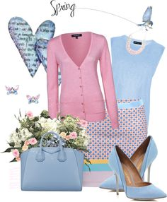 """Pink and Blue"" by berry1975 ❤ liked on Polyvore"