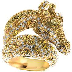 #  GOLD & DIAMOND GIRAFFE RING