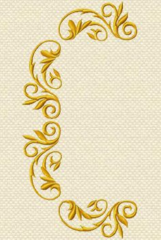 Untitled Document Embroidery Motifs, Embroidery Monogram, Gold Embroidery, Machine Embroidery Designs, Motif Arabesque, Foto Transfer, Art N Craft, Gold Work, Satin Stitch