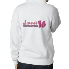 Sweet 16th Birthday Words Embroidery Pattern Hoodie