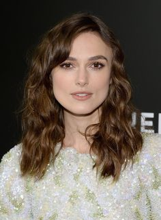 Keira Knightley went for relaxed waves at the Begin Again premiere during the Tribeca Film Festival. @CHANEL