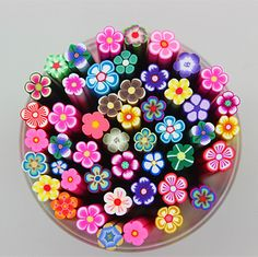 free shipping 50pcs Nail Art Fimo cute big flowers Canes Rods for DIY nail beauty deco € 3,70