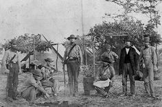 """It happened on Christmas day."" Presidential Pardon  In 1868, President Andrew Johnson granted an unconditional amnesty to all those who fought on the side of the south, like these Confederate soldiers, in the US Civil War."