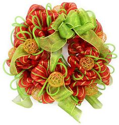 A video on how to make a deco mesh wreath.