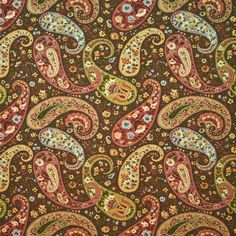 Big discounts and free shipping on Kasmir fabric. Find thousands of patterns. Always first quality. SKU KM-TAOPI-PAISLEY-FIESTA. Sold by the yard.