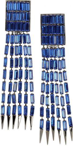 Roberto Cavalli Rectangular Earrings. Image via Roberto Cavalli.