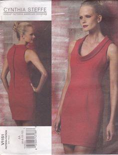 Vogue 1151 Cynthia Steffe Vintage Muster Womens von OhSewVogue
