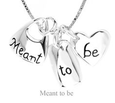 Image of Meant To Be - Inspirational Sterling Silver Necklace.
