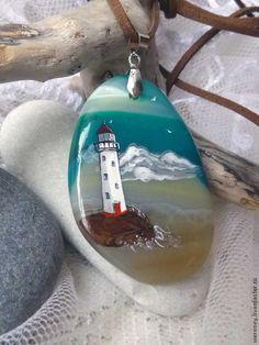 """""""Маяки"""" - морская волна,море,маяк,морской стиль,морская тема,морской пейзаж"""